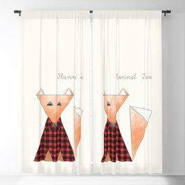 Flannel Fox Blackout Curtain