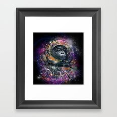 deep space monkey Framed Art Print