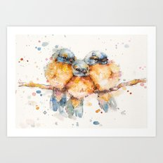 Little Bluebirds Art Print
