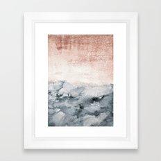 pastel landscape Framed Art Print