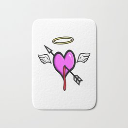 Cupids Heart Bath Mat