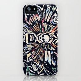 Death Hawk Moth (Intaglio Print / Color) iPhone Case