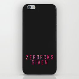 ZEROFCKS Given iPhone Skin