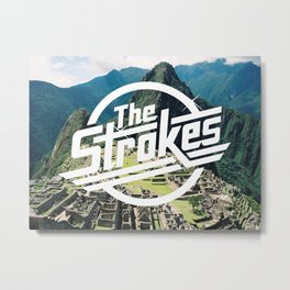 The Strokes Logo Machu Picchu Metal Print
