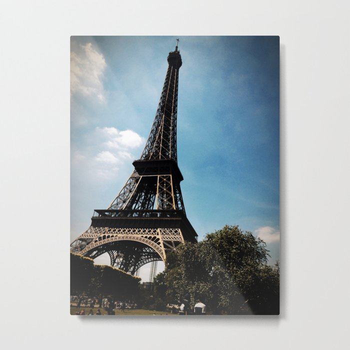 Dark Eiffel Tower Metal Print