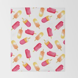 watercolor popsicle pattern Throw Blanket