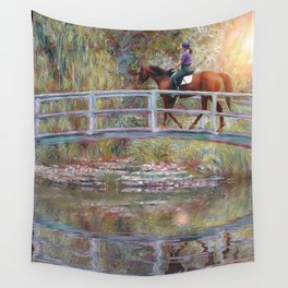 Riding with Monet Wall Tapestry