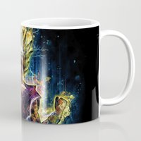 dbz Mugs featuring Emotional Fighter Level 2 by Barrett Biggers