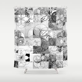 Art In Action Shower Curtain