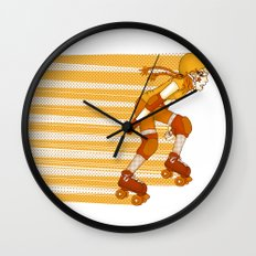Roller Derby Skater by RonkyTonk Wall Clock