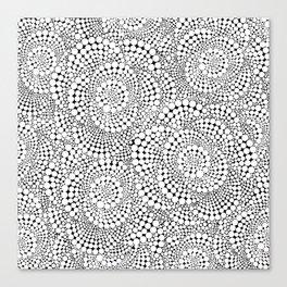 Flower-op-art Canvas Print