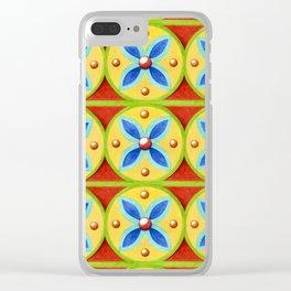 Heraldic Stripe Clear iPhone Case