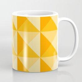 Geometric Prism in Sunshine Yellow Coffee Mug
