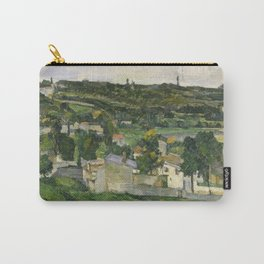 Stolen Art - View of Auvers-sur-Oise by Paul Cezanne Carry-All Pouch