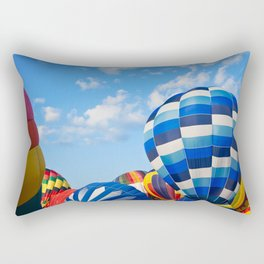 Vibrant Hot Air Balloons Rectangular Pillow