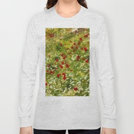 Impressionist Poppies Long Sleeve T-shirt