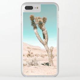 Vintage Desert Scape // Cactus Nature Summer Sun Landscape Photography Clear iPhone Case