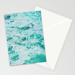 teal waves Stationery Cards