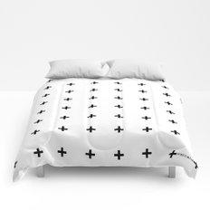 Black Plus on White /// www.pencilmeinstationery.com Comforters