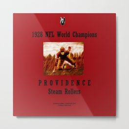 1928 American Football World Champions Providence Steam Rollers Metal Print