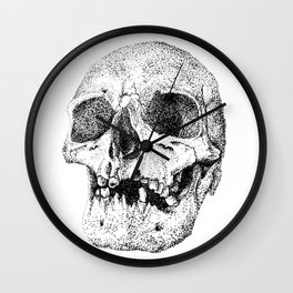 Skull. This too shall pass Wall Clock