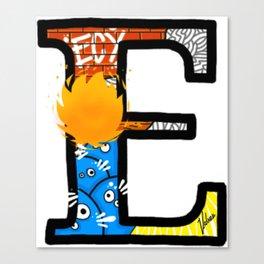 initial E Canvas Print
