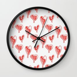 friends hearts Wall Clock