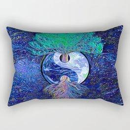 Tree of Life Yin Yang Earth Space Rectangular Pillow