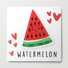 Cute Watermelon Metal Print