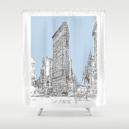 The Flat Iron Shower Curtain