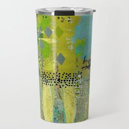 Being Green Abstract Art Collage Travel Mug