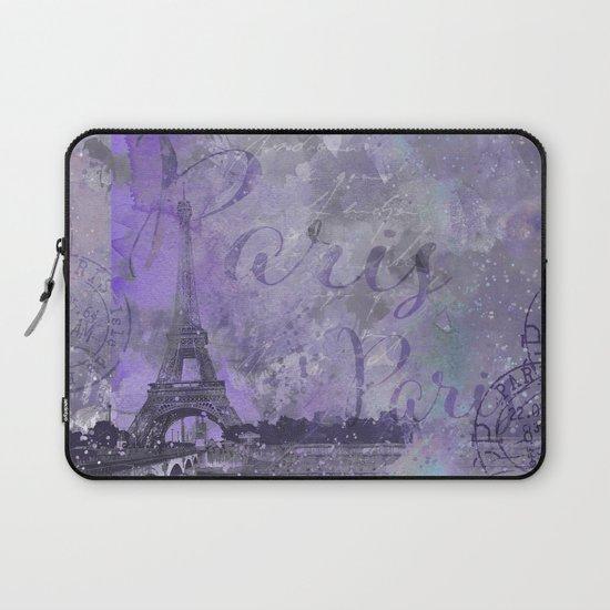 Purple Paris Watercolor Art by lebensart