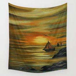 Lynda's sunset Wall Tapestry