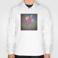 baloon Hoodies featuring Up up and away by Skye Zambrana