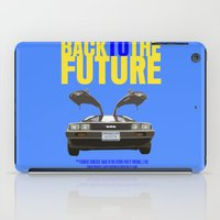 back to the future iPad Cases featuring Back To The Future by FunnyFaceArt