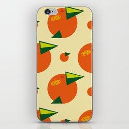 orange pattern iPhone Skin