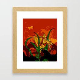 Jungle Lilies Framed Art Print