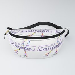 The Colors of Courage Cancer Awareness Ribbons Fanny Pack