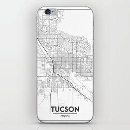 Minimal City Maps - Map Of Tucson, Arizona, United States iPhone Skin