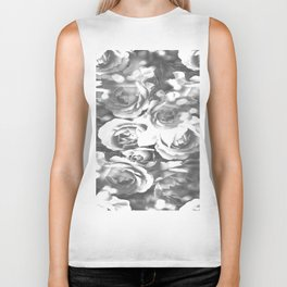 Roses In Black And White #decor #society6 #buyart #homedecor Biker Tank