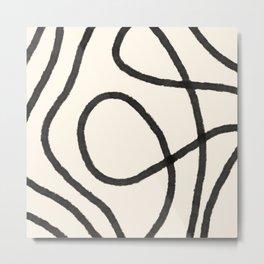 Thick Continuous Line Series 6 | Boho Home Decor, Modern Wall Art, Continuous Line Art, Contour Line Metal Print