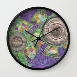 King Flower and Queen Flower Wall Clock
