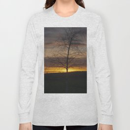 Sunset at the end of town Long Sleeve T-shirt