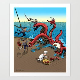 The Pirate Ship Chef Art Print