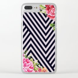 flowers geometric Clear iPhone Case