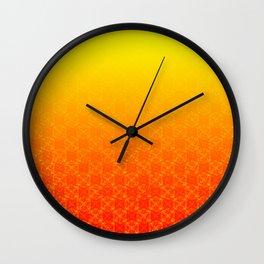 D20 Sorcerer Crit Pattern Premium Wall Clock