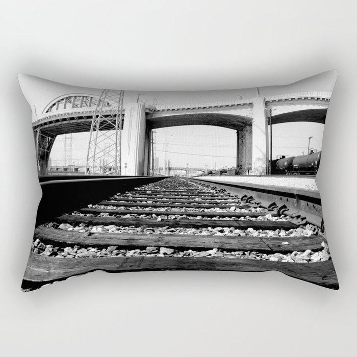 Sixth Street Bridge & Viaduct Rectangular Pillow