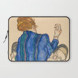 "Egon Schiele ""Seated Woman, Back View"" Laptop Sleeve"