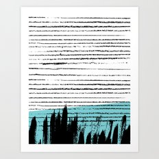 Lines & Strokes 001 Art Print