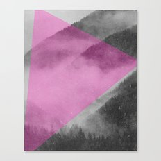 NEON NATURE   Pink Canvas Print